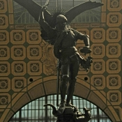 Saint Michael terresant the dragon emmanuel fremiet 1879