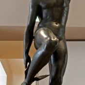 Mercury Fastening His Heel-Wings by François Rude 1834