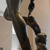 Mercury Fastening His Heel-Wings by François Rude 1834 feet