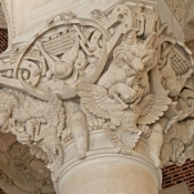 pillar with hares wolves roosters Louvre
