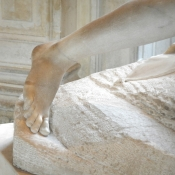 Psyche Revived by Cupid's Kiss foot