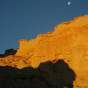 Red Rock and Moon 2