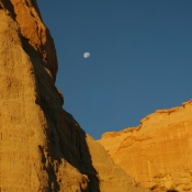 Red Rock and Moon 1