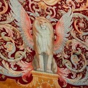 33 pantheon winged lion tapestry