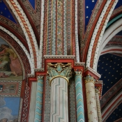 52 saint germain de pres pillars paintings