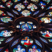 35 sainte-chapelle rose window 2